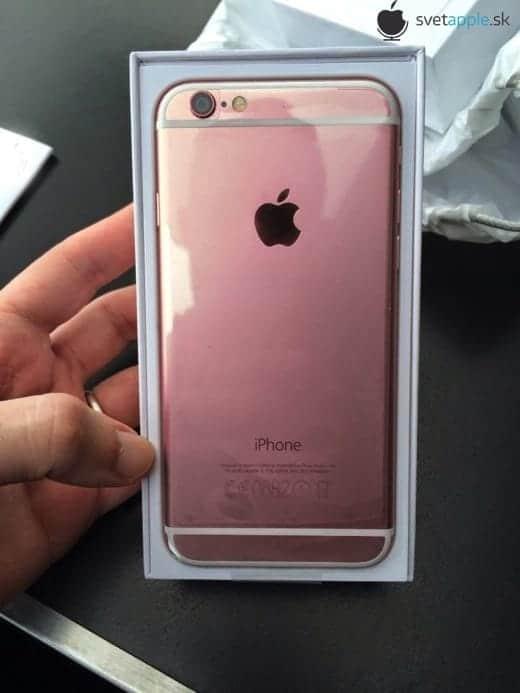 iPhone 6S ローズゴールド パッケージング