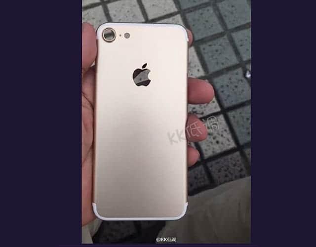 iPhone 7(仮)の新たなリーク画像 背面アンテナバンドなし