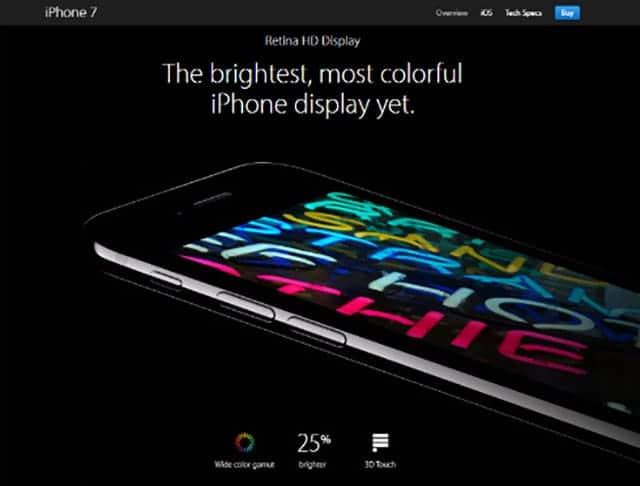 iPhone7のディスプレイは過去最高