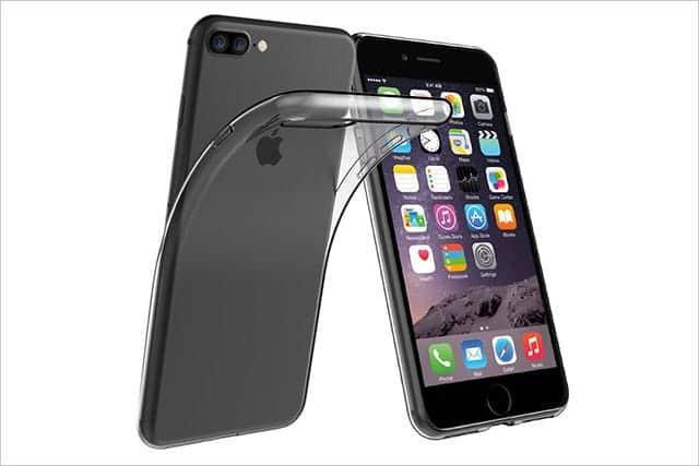 Simpeak iPhone 7 用 TPUクリア透明ケース保護カバー