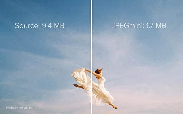 JPEGmini公式の宣伝画像