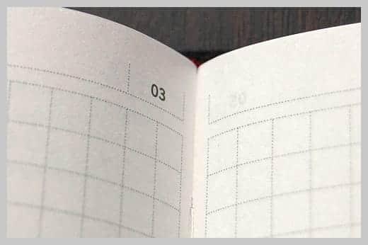 陰山手帳レビュー メモページ拡大