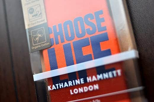 KATHARINE HAMNETT LONDON Fabric Cover Set for iPhone 5s CHOOSE LIFE ケース