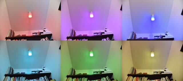 簡単に色が変わるLED電球