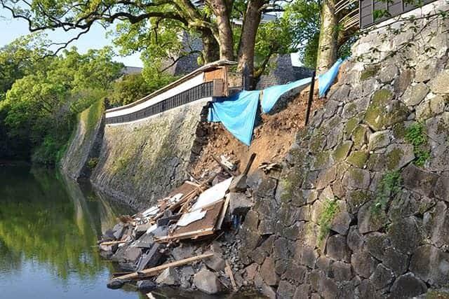 備前堀の石垣