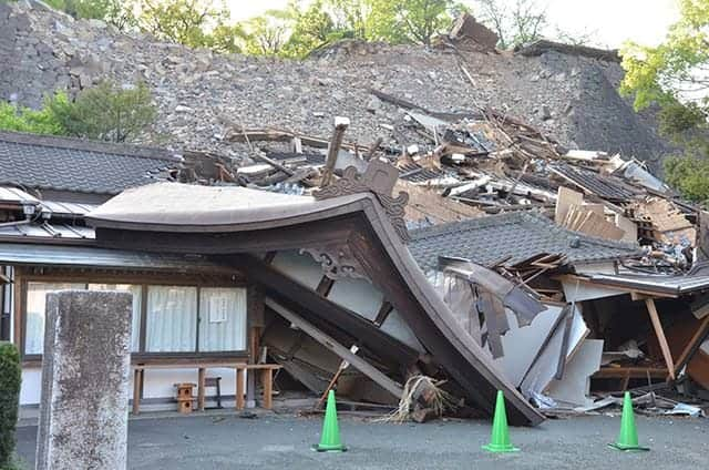 全壊した熊本大神宮