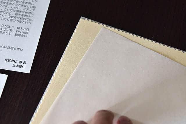 薄い紙に包まれたキョンセーム