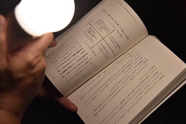 強点灯なら読書も可能