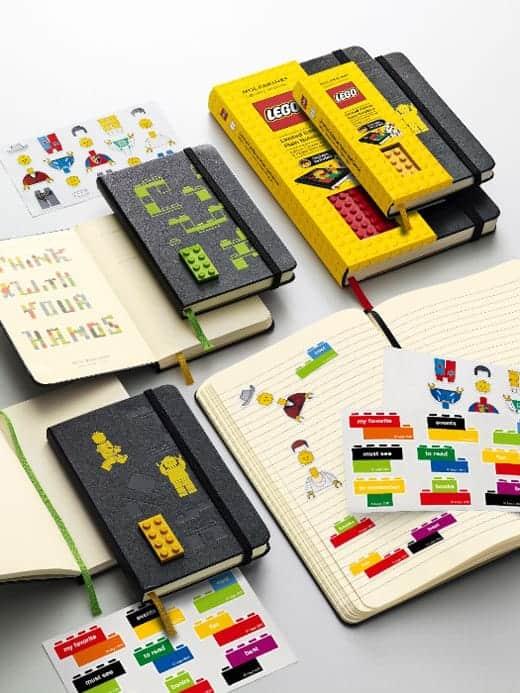 LEGOブロック付きモレスキン