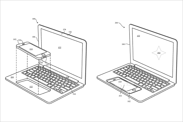 MacBookにiPhoneをはめ込む新製品?