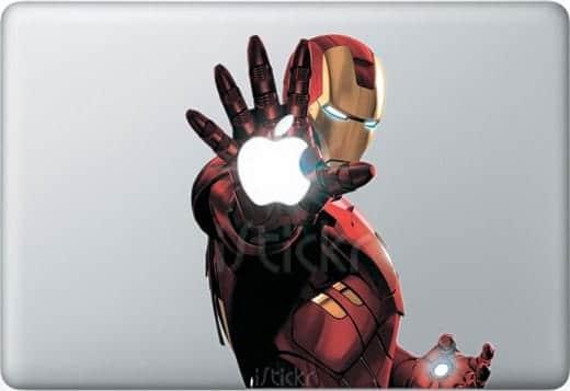 MacBook アイアンマンステッカー