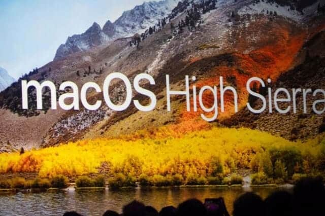 macOS High Sierra 9月26日にリリース