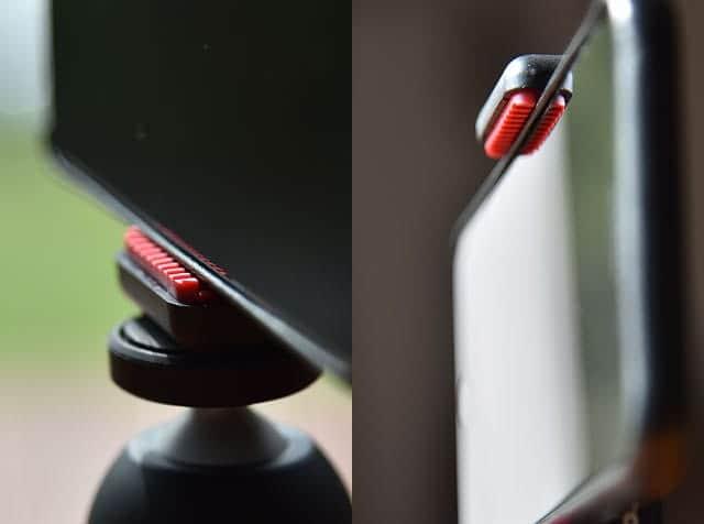 厚さ1cmまでのスマートフォンを装着可能