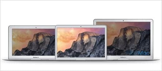 MacBook Air 12インチ ディスプレイサイズの比較