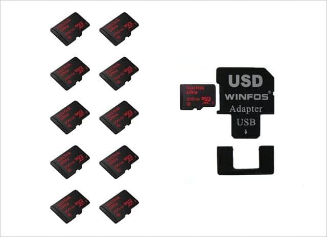 Micro SDXC 200GB 10枚とMicroSDアダプター