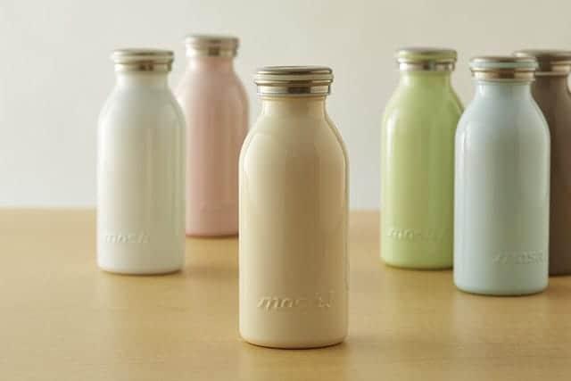 まるで牛乳ビン!優しいフォルムの水筒『mosh!(モッシュ)ボトル』が大人気。真空断熱で保温・保冷が長続き。
