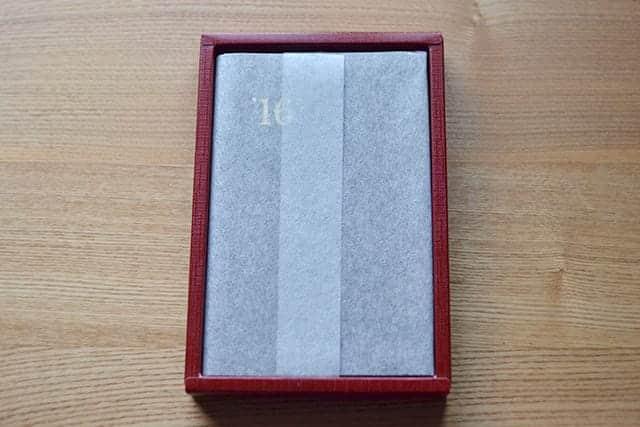 和紙に包まれた能率手帳ゴールド