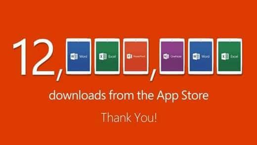 マイクロソフトのiPad向けOffice、ダウンロード1200万突破