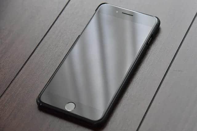 iPhone 7 PlusにPIKATA(ピカタ)のケースをつけた写真