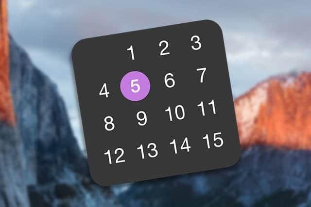 超シンプルなMac用メニューバー常駐カレンダー Quick View Calendar