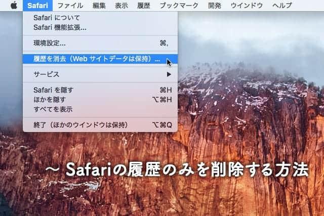 Safariの履歴のみを削除する方法