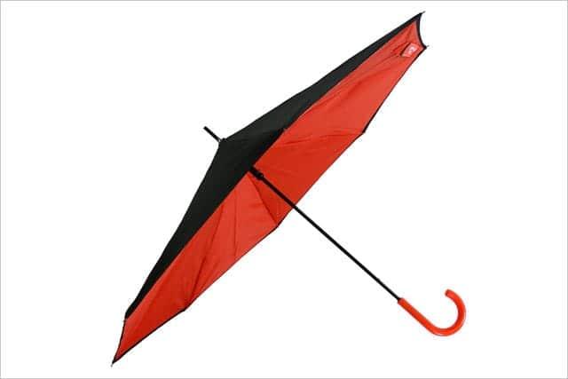 逆折り式傘 saKASA 開いたところ