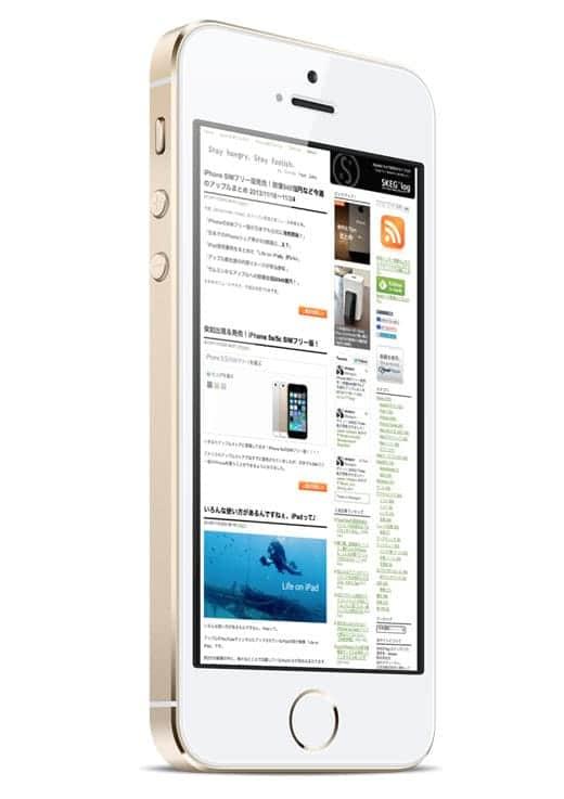 iPhone 5s にSKEG*logのイメージをはめ込んでみた