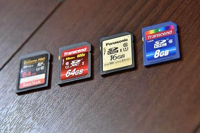 SDカード 4種 の速度測定 不良品かどうか調べる方法
