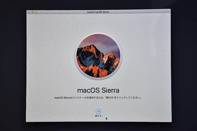 macOS Sierraインストール