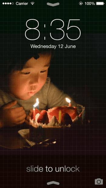 娘の誕生日の写真