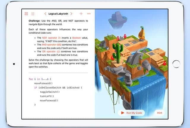 iPadでプログラミングを学べる Swift Playgrounds