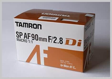 SP AF90mm F/2.8 Di MACRO 1:1 外箱