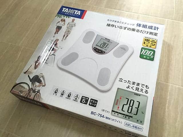 TANITA体組成計BC-754 箱