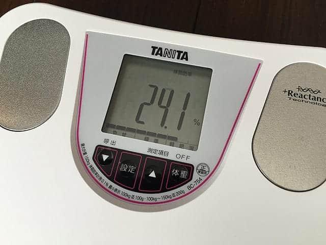 体脂肪率表示