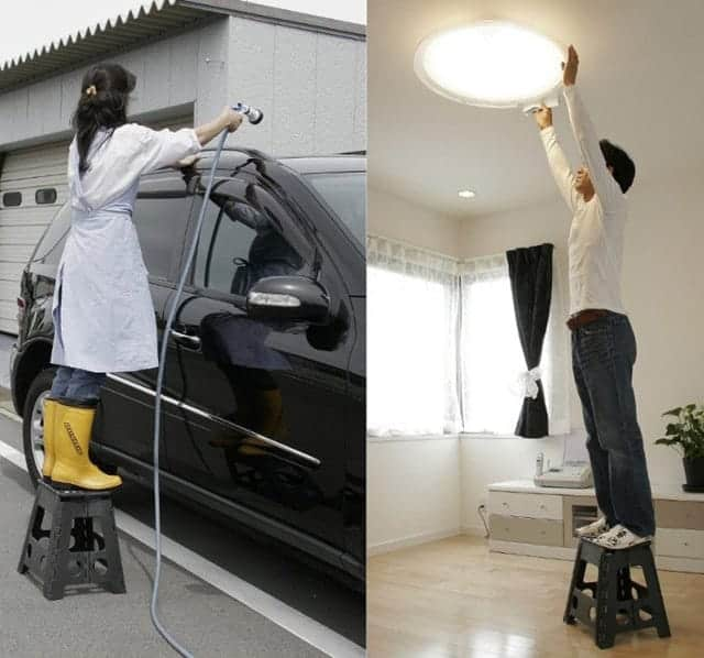 電球の取り替えや車の洗車にも使える