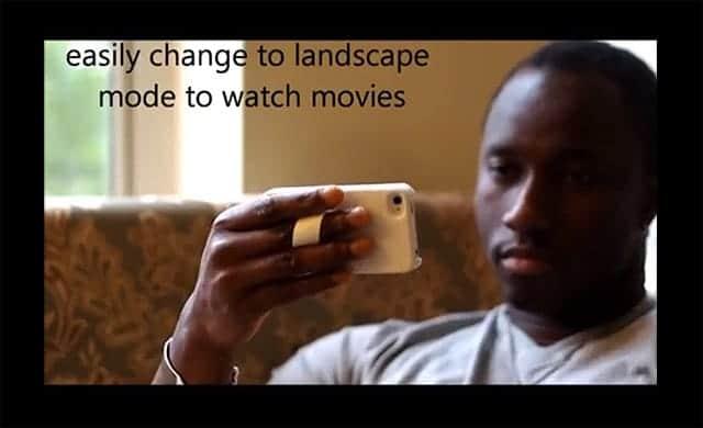指をスポっと差し込んでiPhoneを固定できる新しいケースTuidle