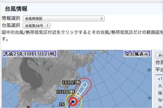 気象庁 台風情報