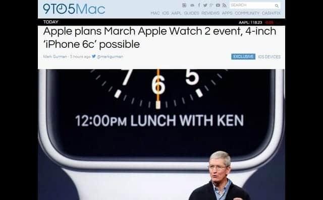 3月に次期「Apple Watch」と「iPhone 6c」を発表?