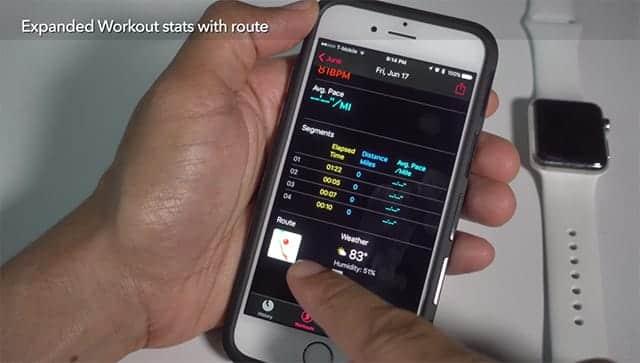 watchOS 3 ワークアウトアプリにルート表示が追加