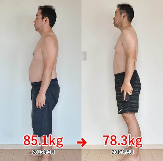 ジョギングダイエット 約1年の成果 約6.8kg減りました!