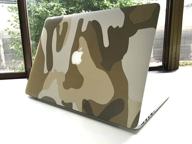 山田商店 MacBookラッピング 迷彩ベージュ