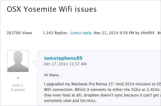 Wi-Fi接続の不具合 解消されず?