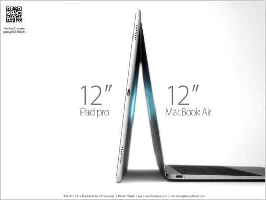 12インチ iPad ProとMacBook AIr