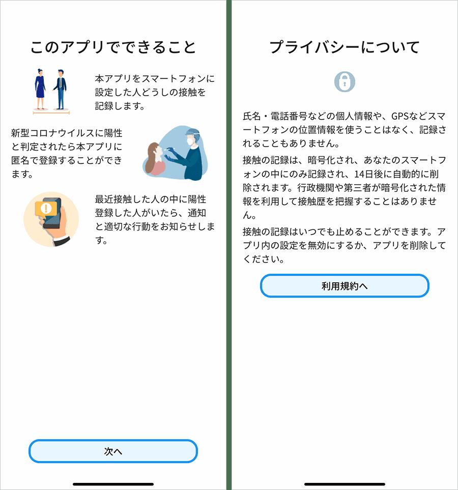 接触確認アプリでできることとプライバシーポリシー