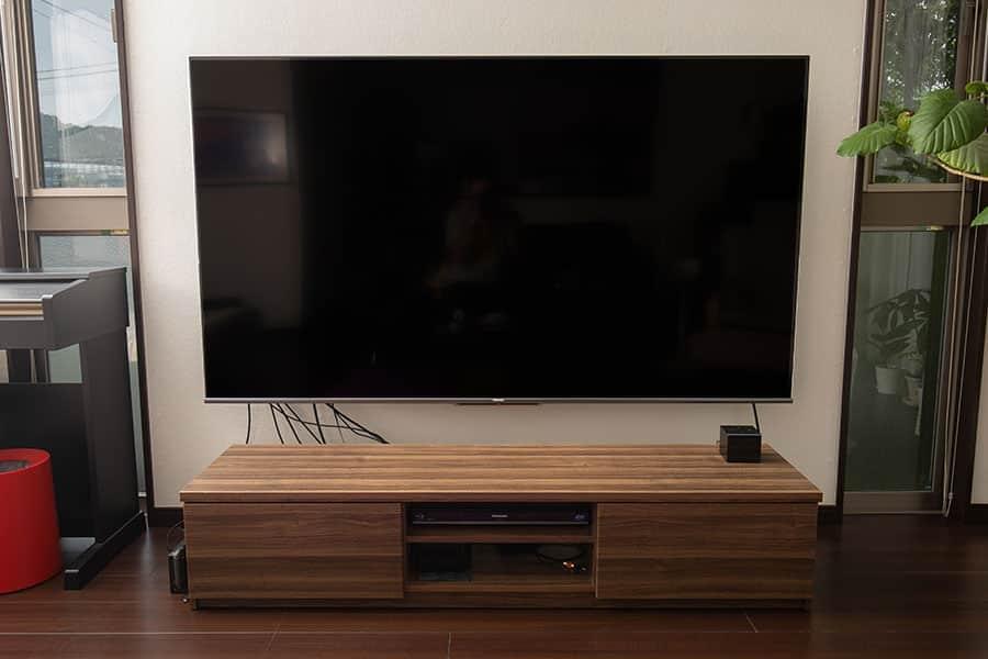 テレビ壁掛け設置ほぼ完了