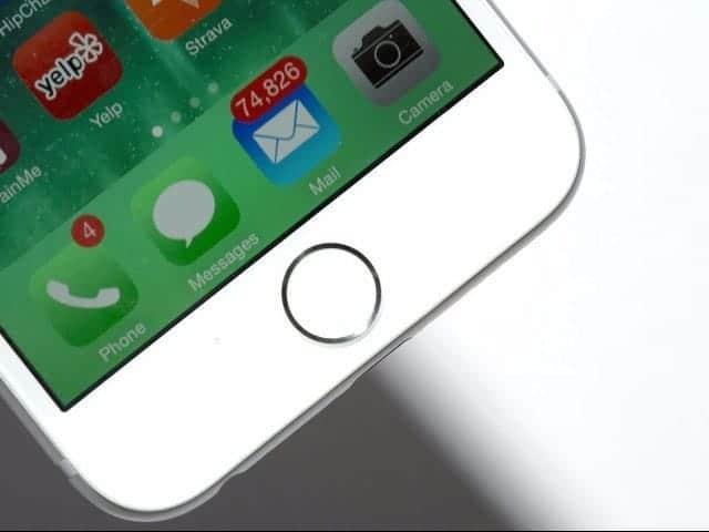 iPhone ホームボタン ロック解除