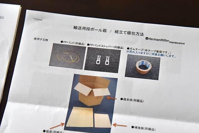 輸送用段ボール箱/組立て梱包方法