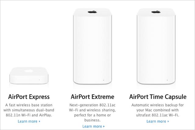 Wi-FiルーターのAirMacが販売終了