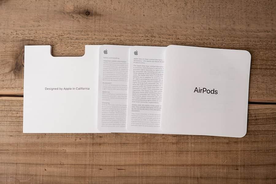 AirPodsのマニュアル類