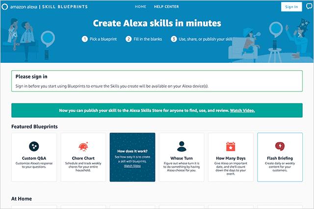 自分だけのAlexaスキルを簡単作成 Alexa Skill Blueprints 発表
